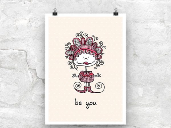 DIY A3-Be-You-Poster