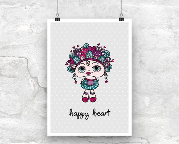 Tazi Happy-Heart-Poster