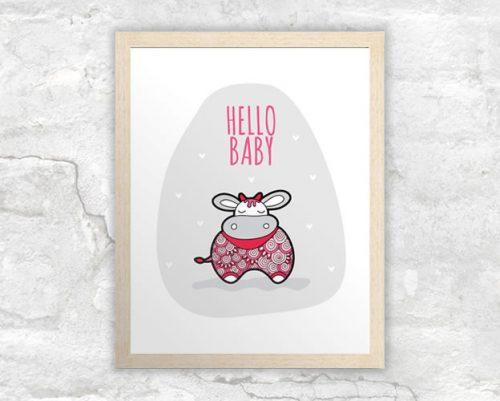 DIY A3-Hello-Baby-Pink-Frame
