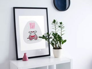 DIY A3-Hello-Baby-Red-Frame