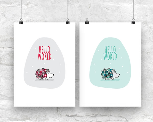 DIY A3-Hello-World-Both-Wall