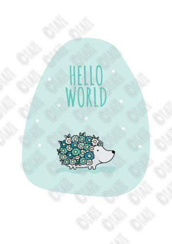 DIY A3-Hello-World-Hedgehog-Green