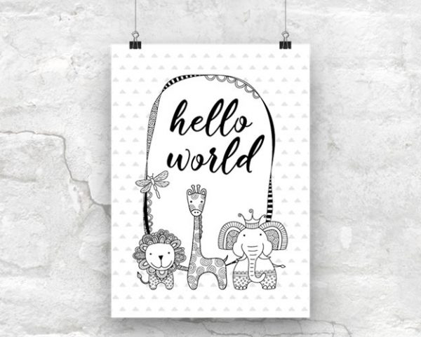 Tazi Hello-World-Poster