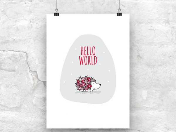 DIY A3-Hello-World-Red-Wall