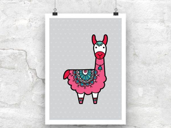 DIY A3-Llama-Poster