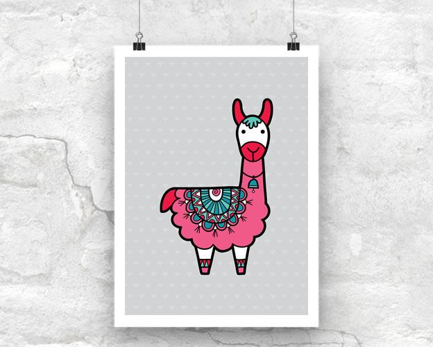 Tazi Llama-Poster