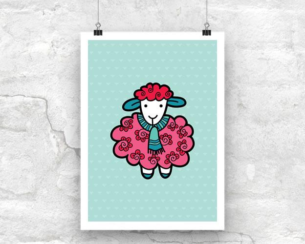 Tazi Sheep-Poster