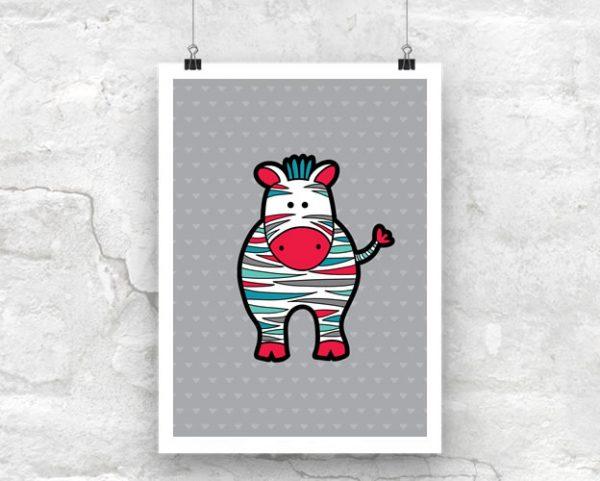 Tazi Zebra-Poster