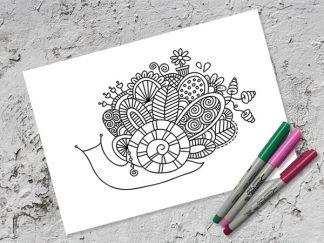 Tazi A4-snail-doodle