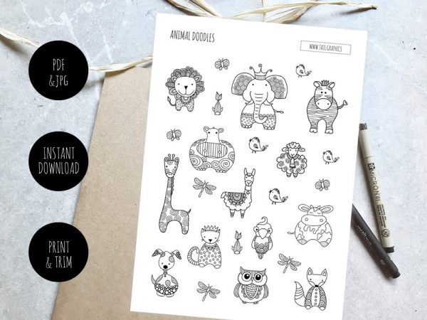 Tazi Animal-Doodles