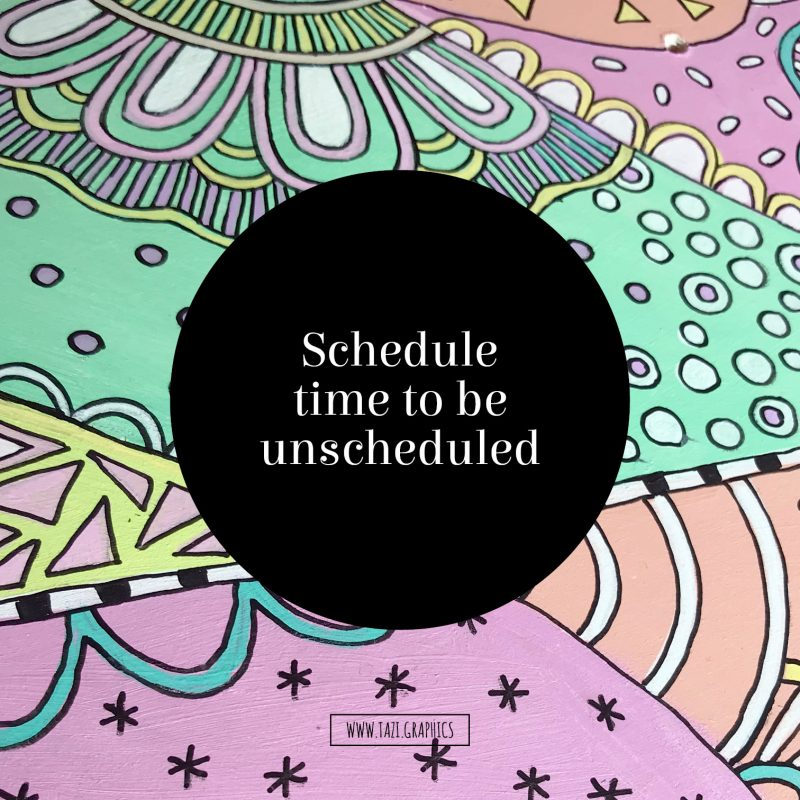 Schedule time to be unscheduled