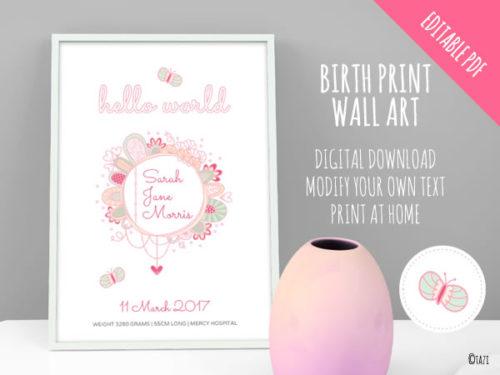 DIY Birth-Print