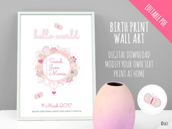 DIY Birth-Print
