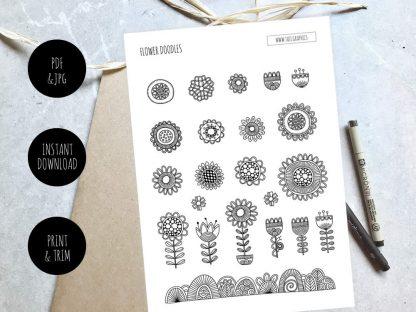 Tazi Flower-Doodles