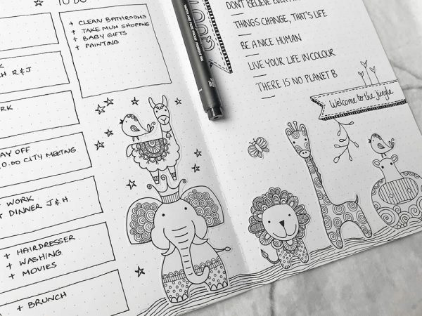 DIY Stickers-Animal-Journal