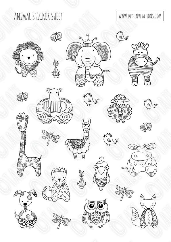 DIY Stickers-Animals