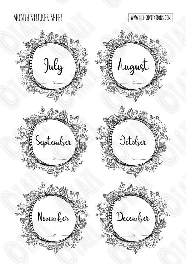 DIY Stickers-Months-Watermark-P2