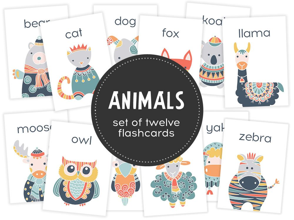 DIY animals-flashcard-hero