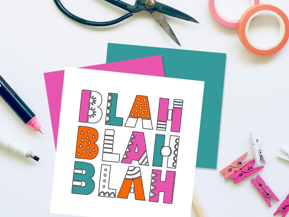 DIY blah-blah-outline-craft