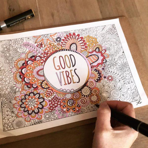 Tazi colouring-good-vibes