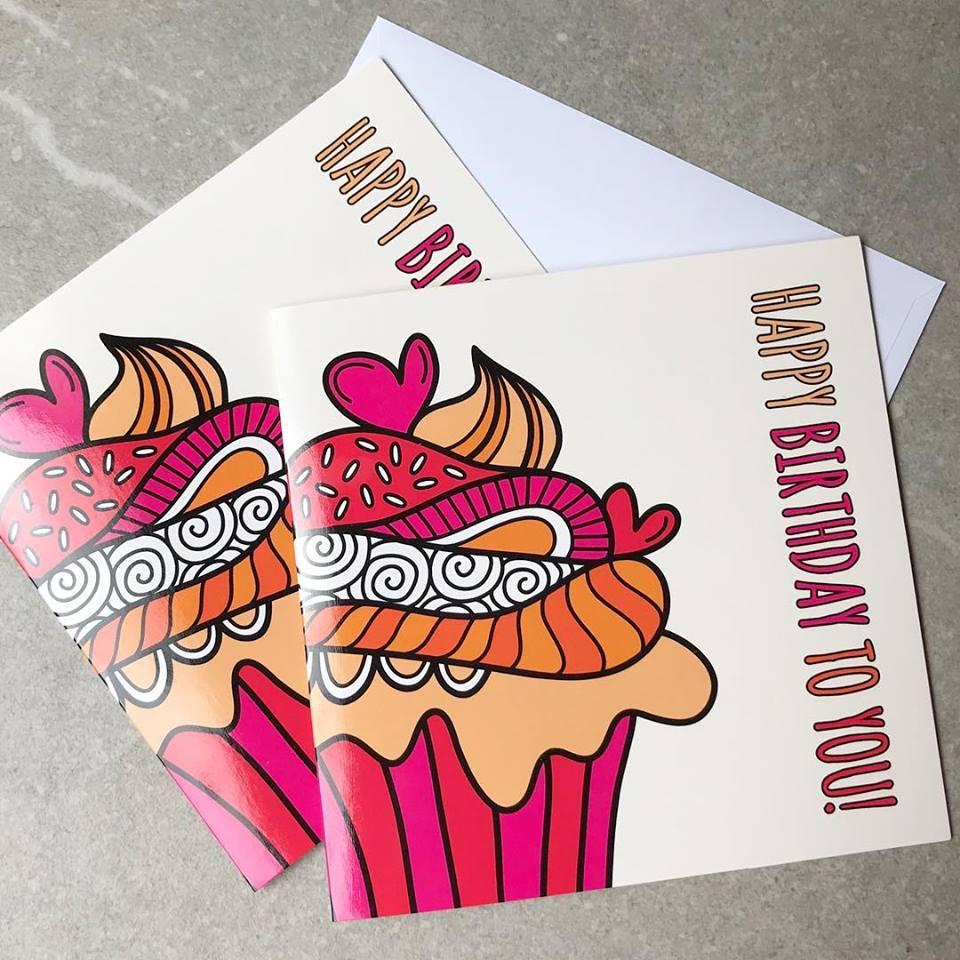 DIY cupcake card