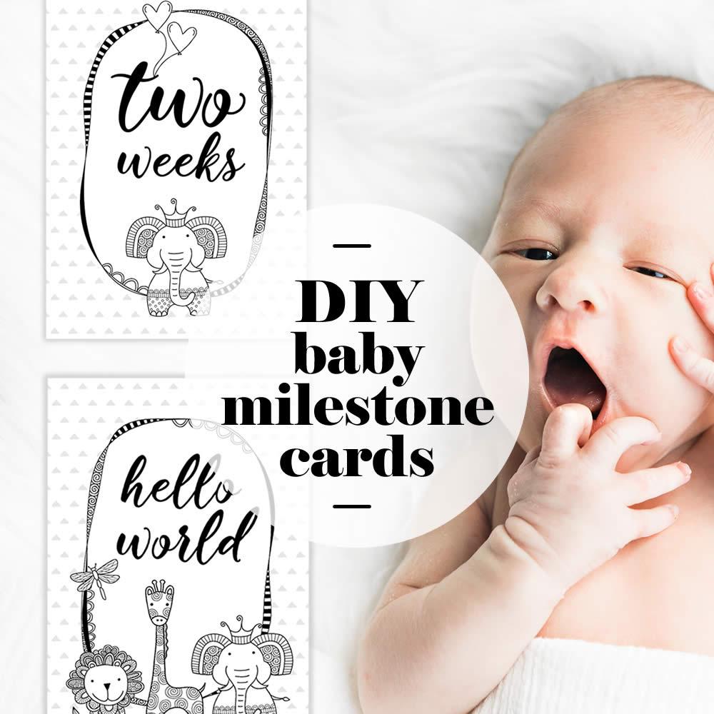 DIY Baby Milestones