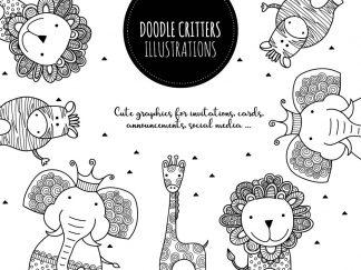 DIY doodle critters