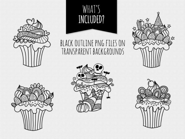 DIY doodle-cupcakes-black-included