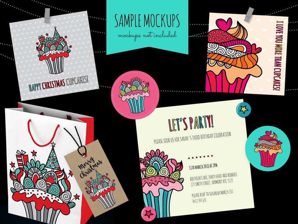 DIY doodle-cupcakes-mockup