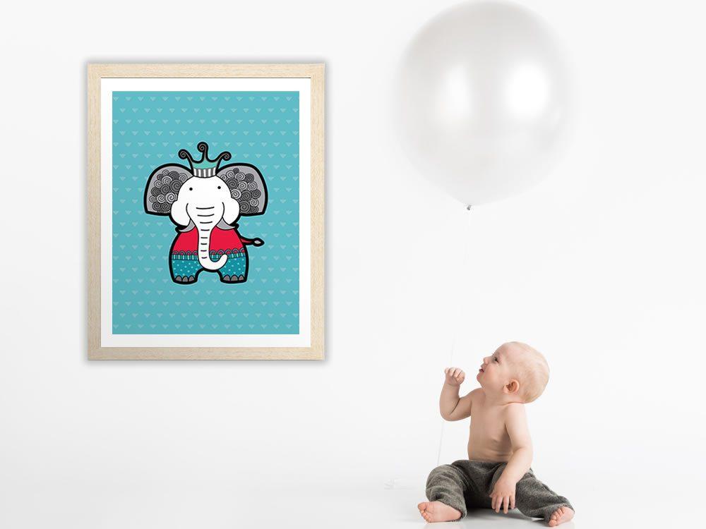 Tazi elephant-frame