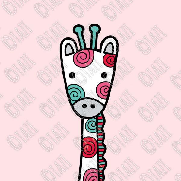 Tazi giraffe-pink