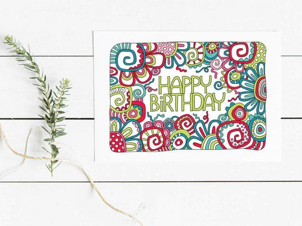 Happy birthday digital graphic by Tazi
