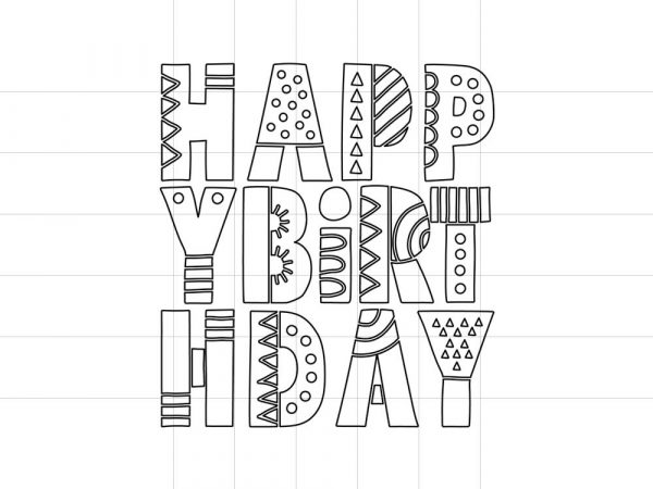 DIY happy-birthday-letters-outline