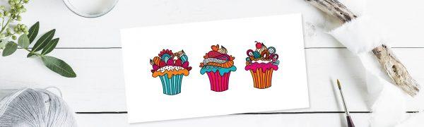DIY header cupcakes