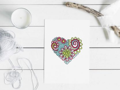 Tazi heart doodle mockup