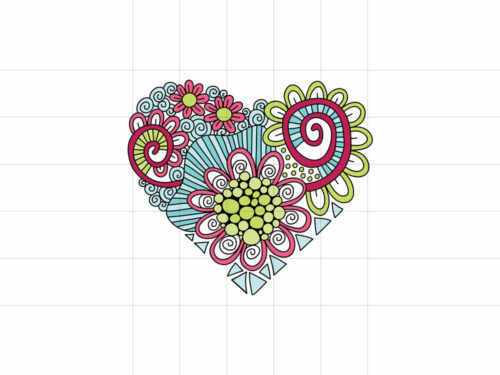 Tazi heart doodle