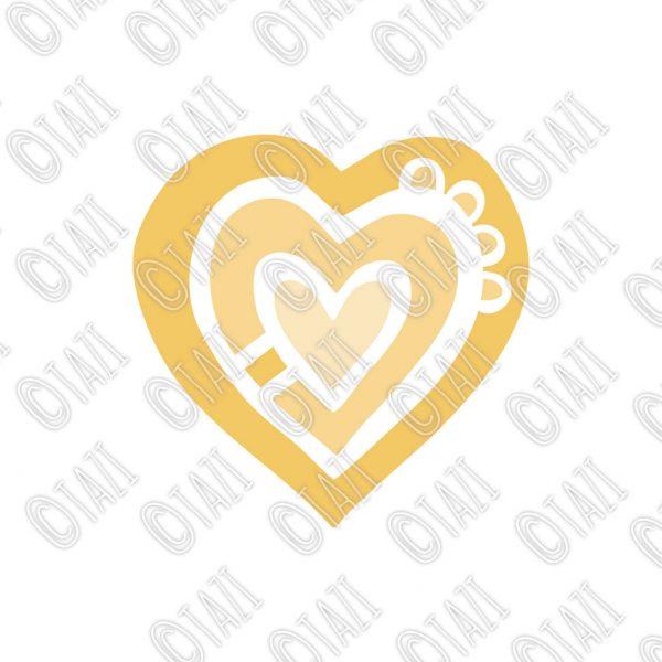 Tazi heart-yellow