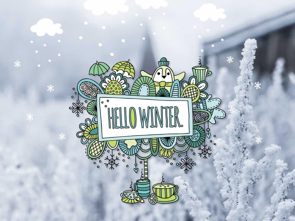Tazi hello-winter-snow