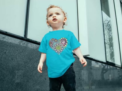 TaziY heart doodle infant-tee