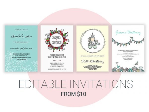 DIY Editable Invitations