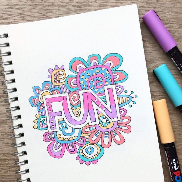 Fun journal page by Tazi