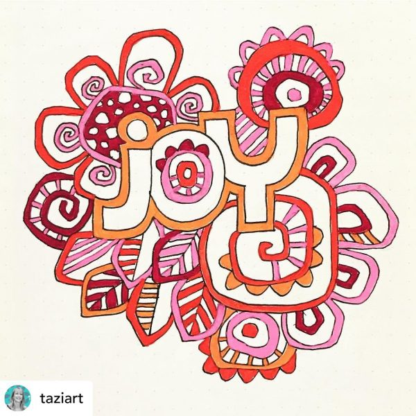 joy journal page by tazi