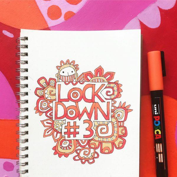 Lockdown #3 journal page by Tazi