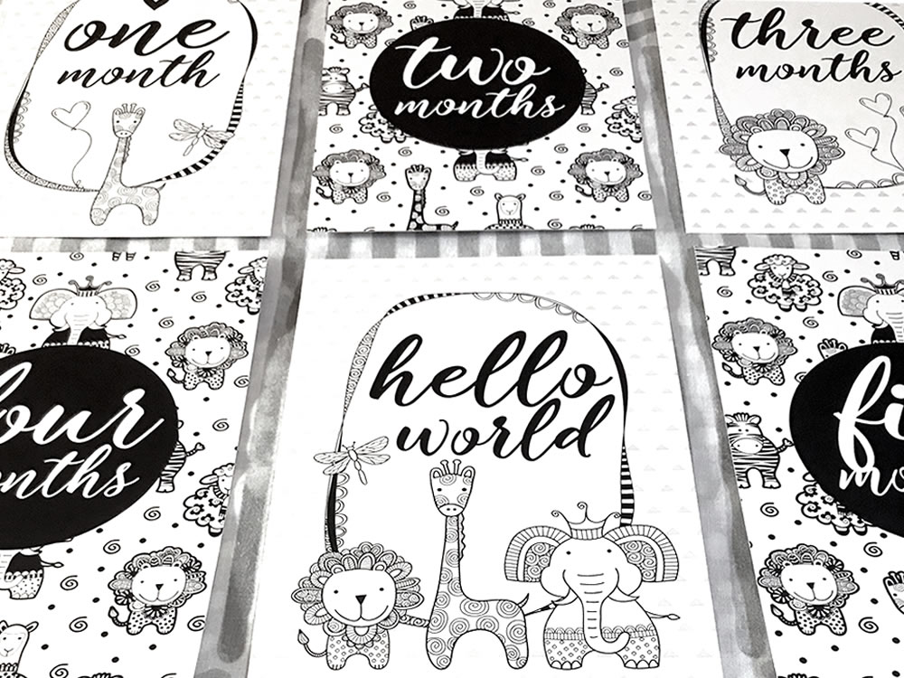 Baby Milestone Cards by Tazi