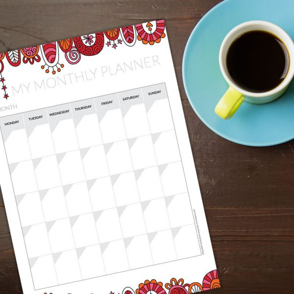 Tazi monthly-planner