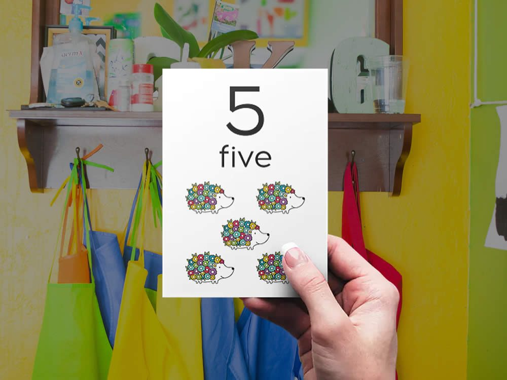DIY numbers-bright-five