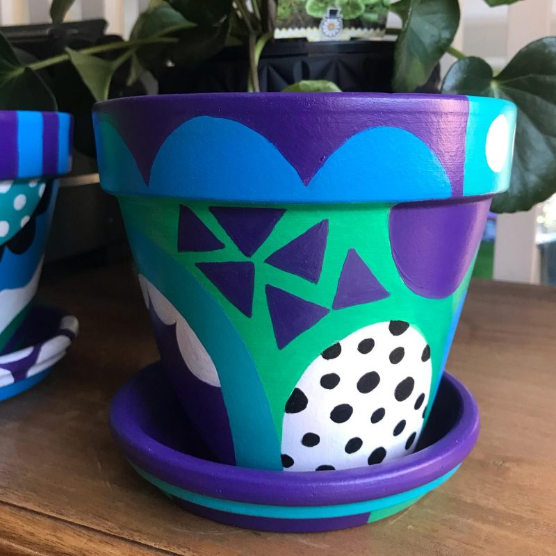 Painted pots by Tazi