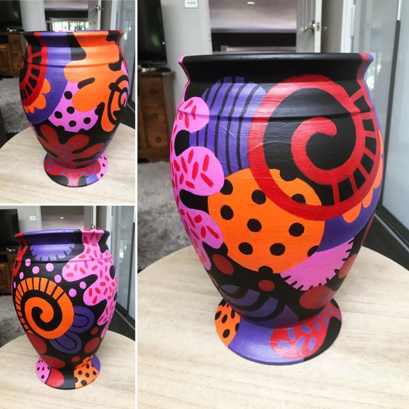Painted urn by Tazi