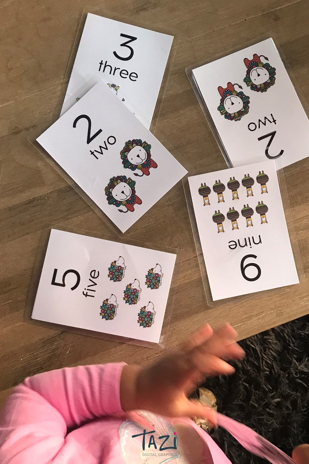 Number flash cards printables by Tazi