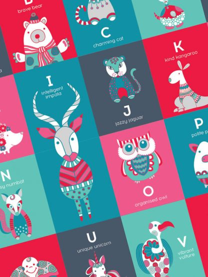 Tazi pin-alphabet-animals